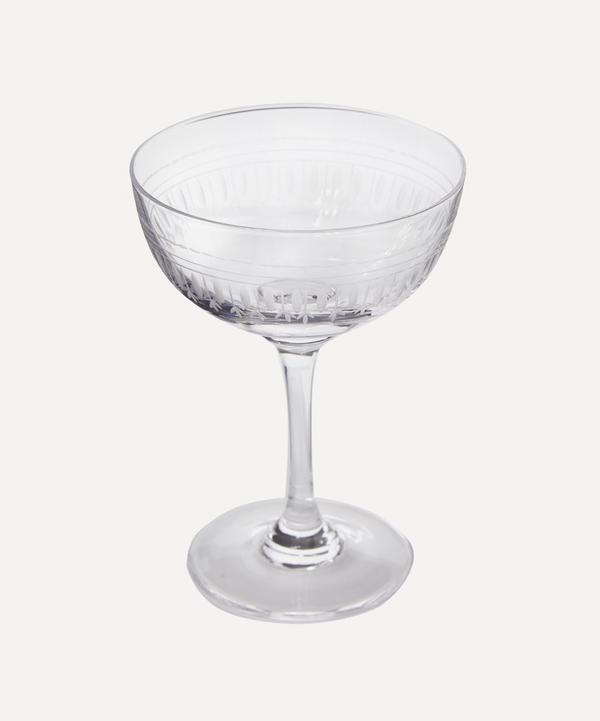 Six Oval Champagne Coupes