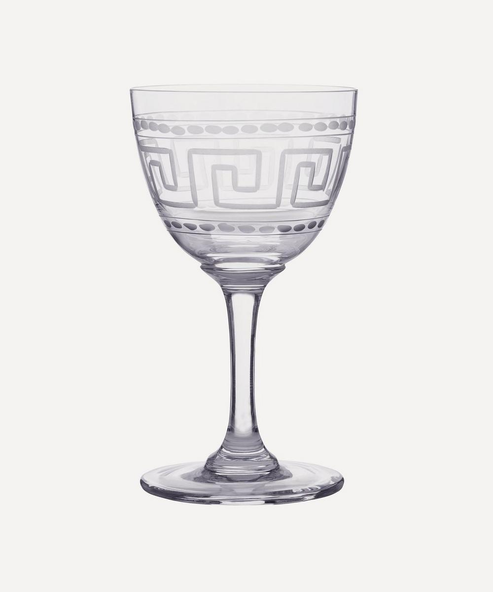 Set of 6 Greek Key Liquer Glasses