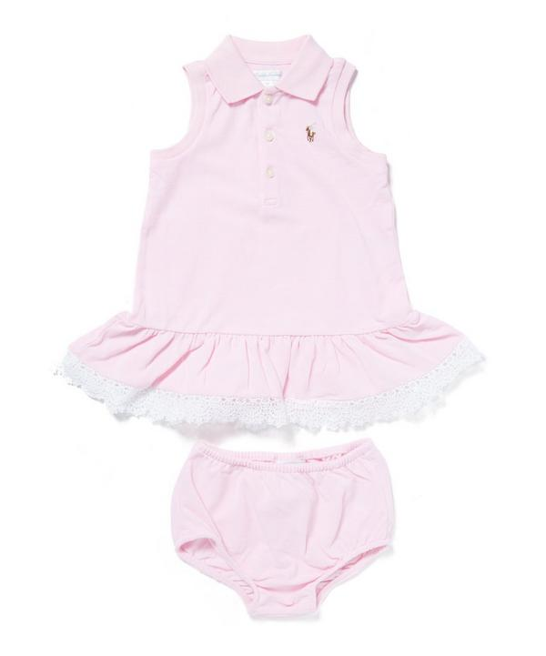 Lace-Hem Polo Dress