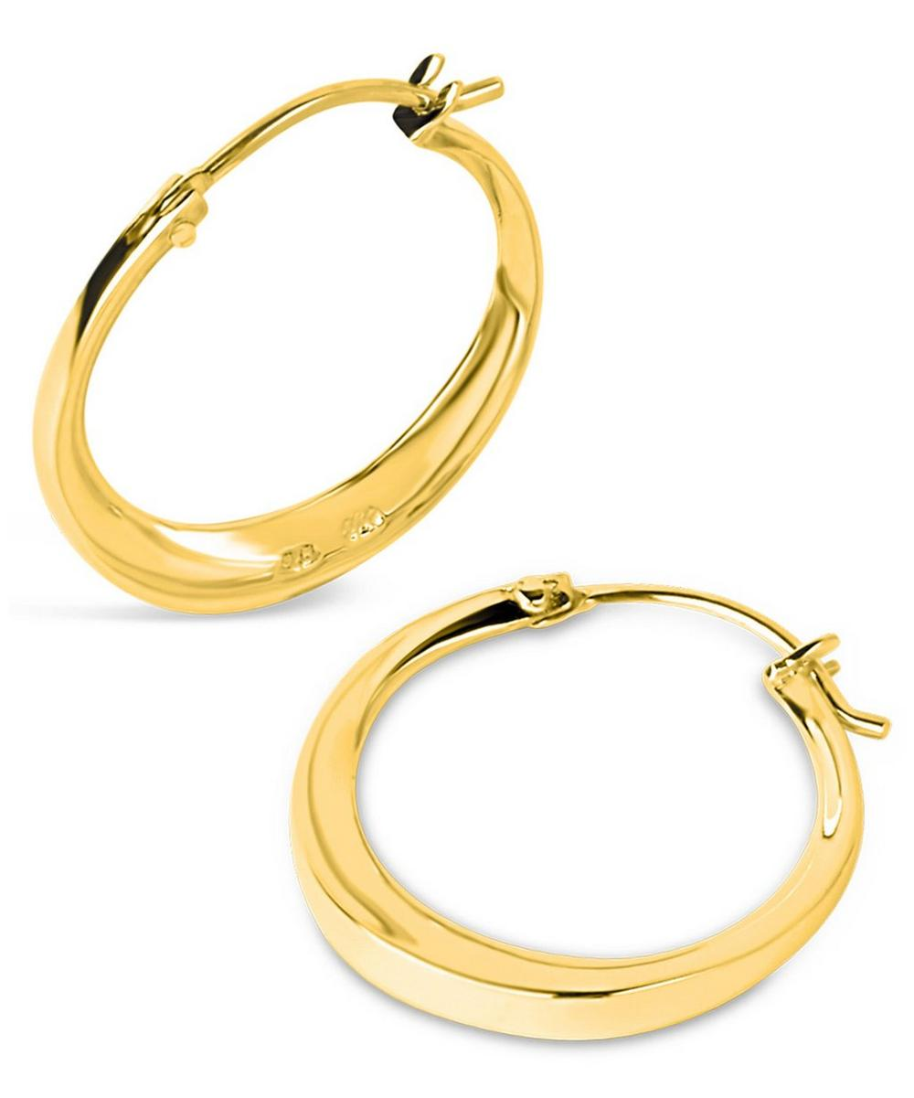 Small Gold-Plated Signature Hoop Earrings