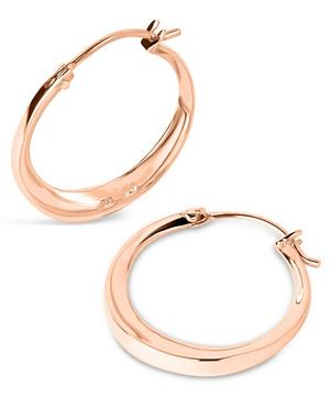 Small Rose Gold-Plated Signature Hoop Earrings