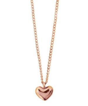Rose Gold-Plated Bijou Heart Pendant