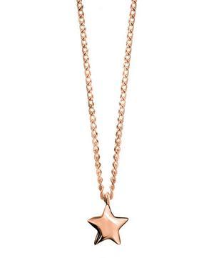 Rose Gold-Plated Bijou Star Pendant Necklace