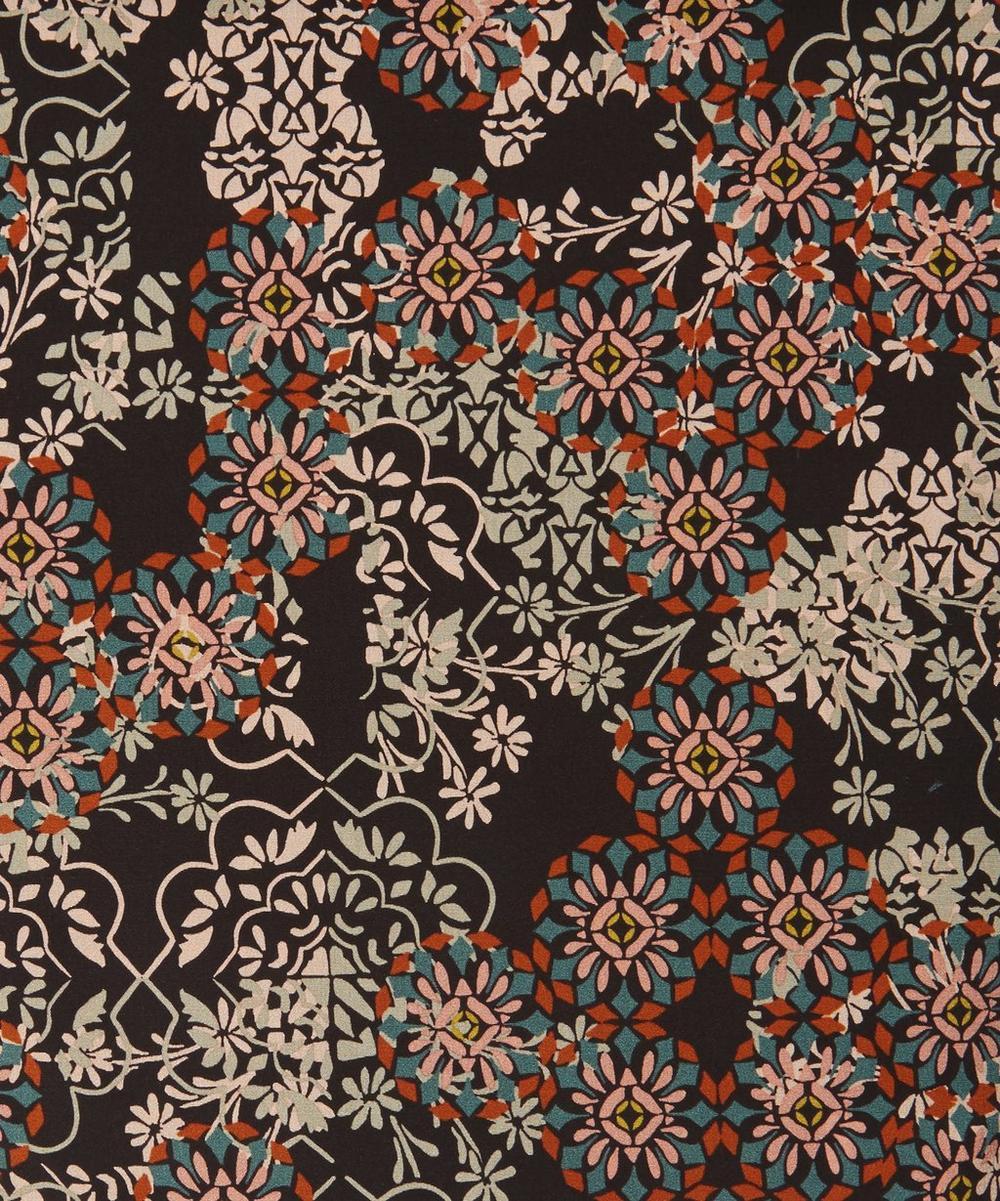 Floral Filigree Silk Crepe de Chine