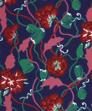 Trailing Peonies Silk Crepe de Chine