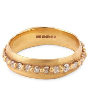 Rose Gold Miners Cut Diamond Eternity Ring