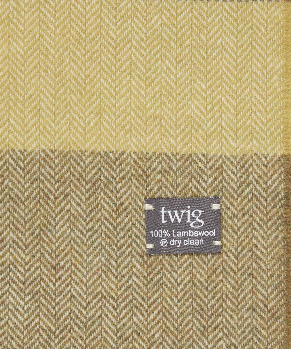 Mustard Jessie Quinel Lambswool Throw