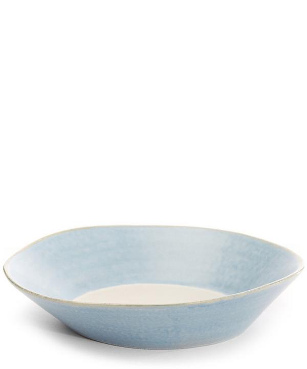 Stripe Stoneware Pasta Bowl