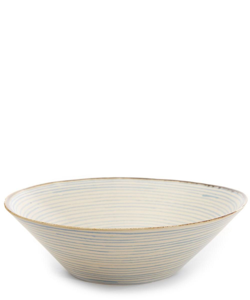 Stripe Stoneware Salad Plate