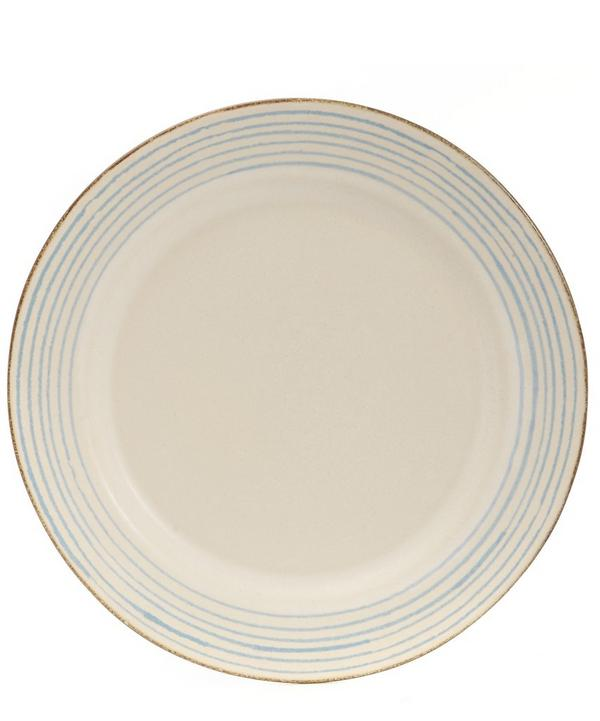 Stripe Stoneware Dinner Plate