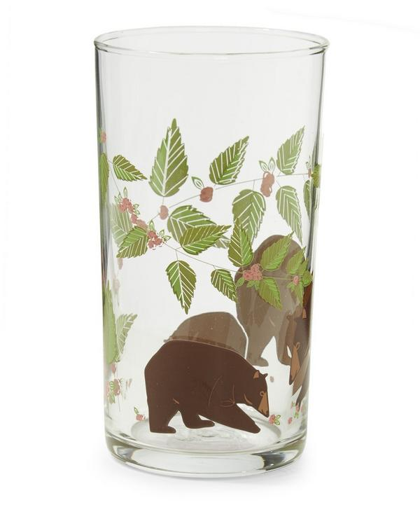 Bear and Flower Glass