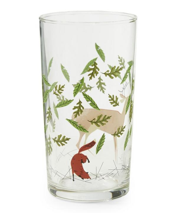 Deer and Fox Glass