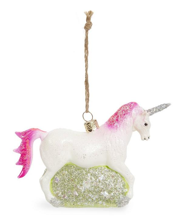 Glitter Encrusted Unicorn Decoration