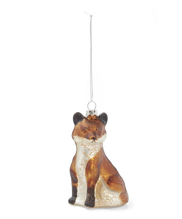 Sitting Fox Decoration
