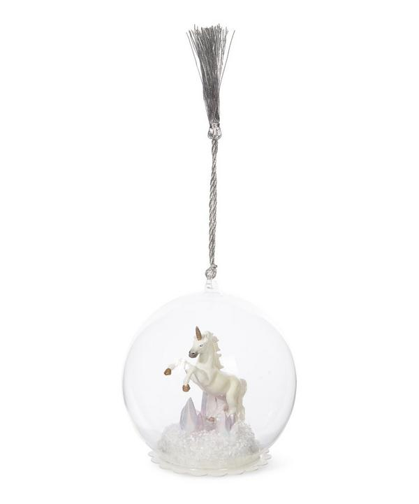 Unicorn Globe Bauble