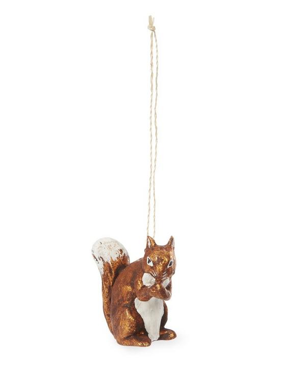 Wooden Squirrel Decoration
