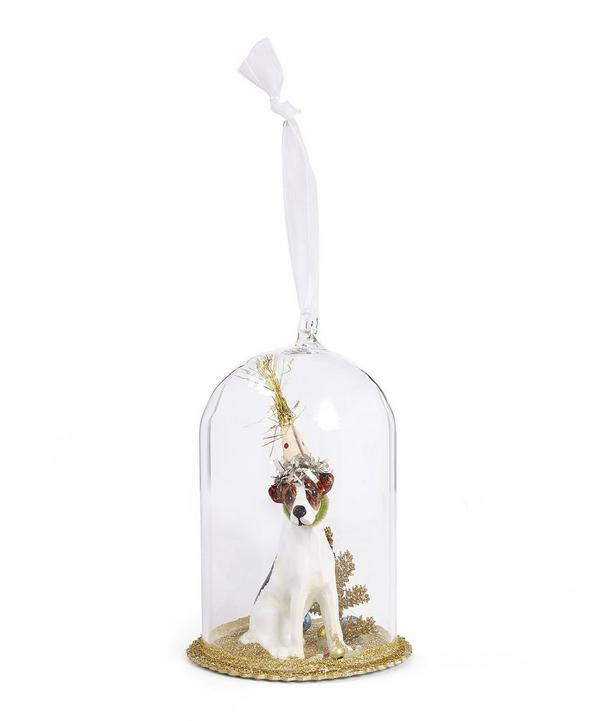 Party Dog Glass Decoration