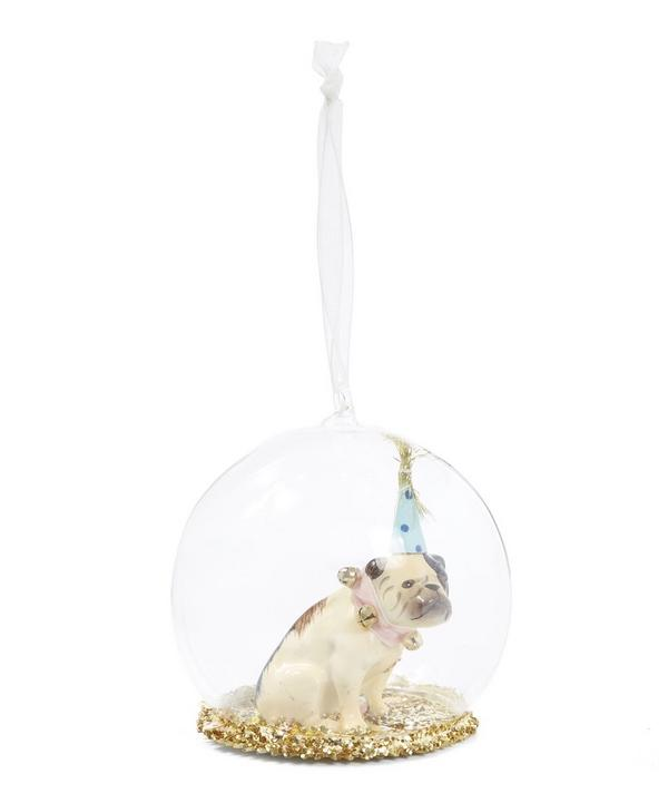 Party Time Bulldog Glass Globe