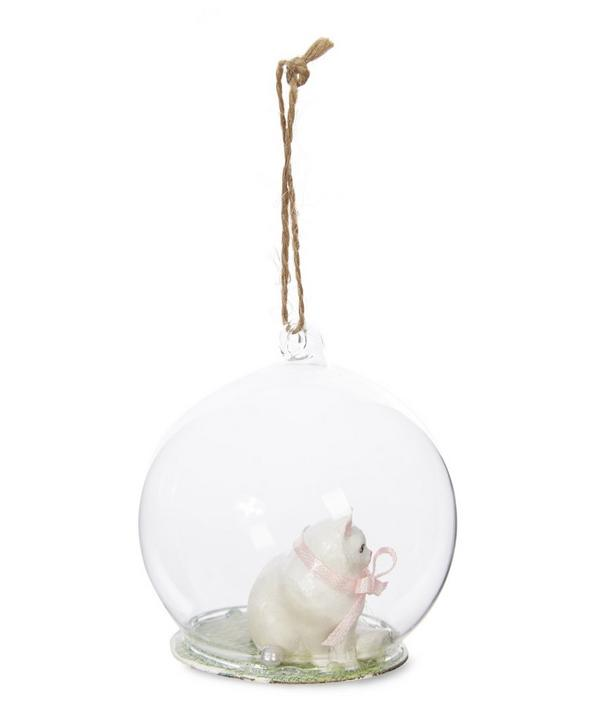 Cat Globe Bauble