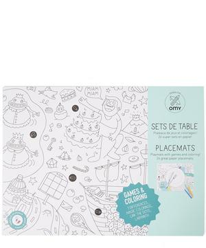 Games Colouring Placemats