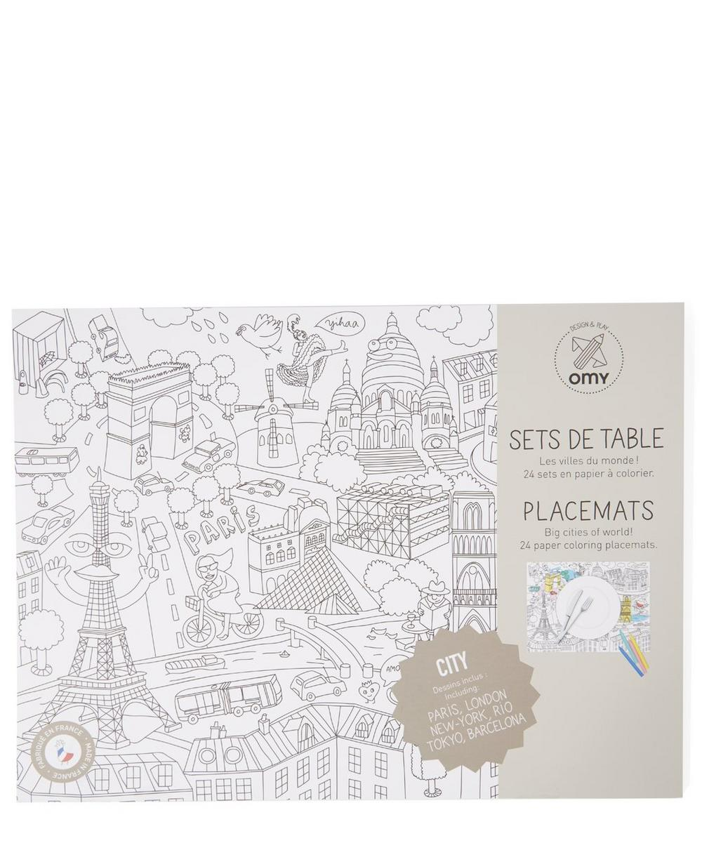 City Map Colouring Placemats