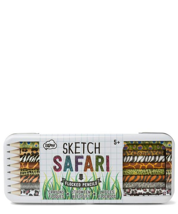 Safari Sketch Flocked Pencils