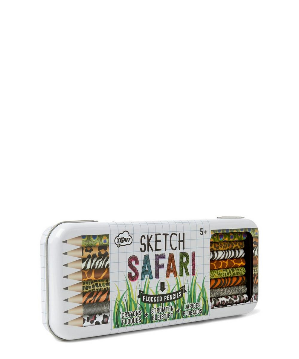 Safari Sketch Flocked Pencils