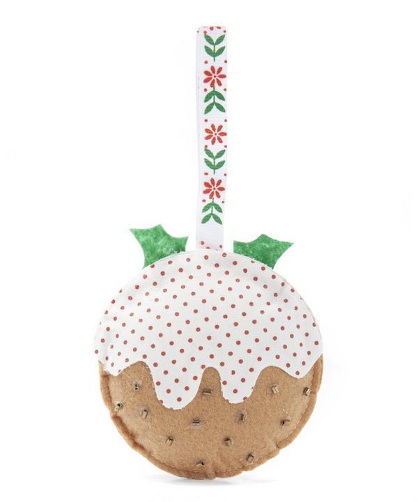 Christmas Pudding Felt Tree Decoration
