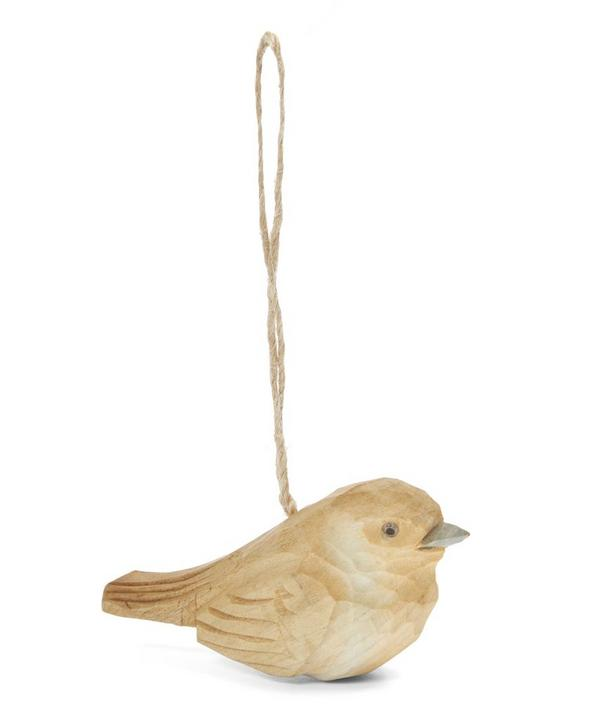 Carved Wooden Robin Decoration