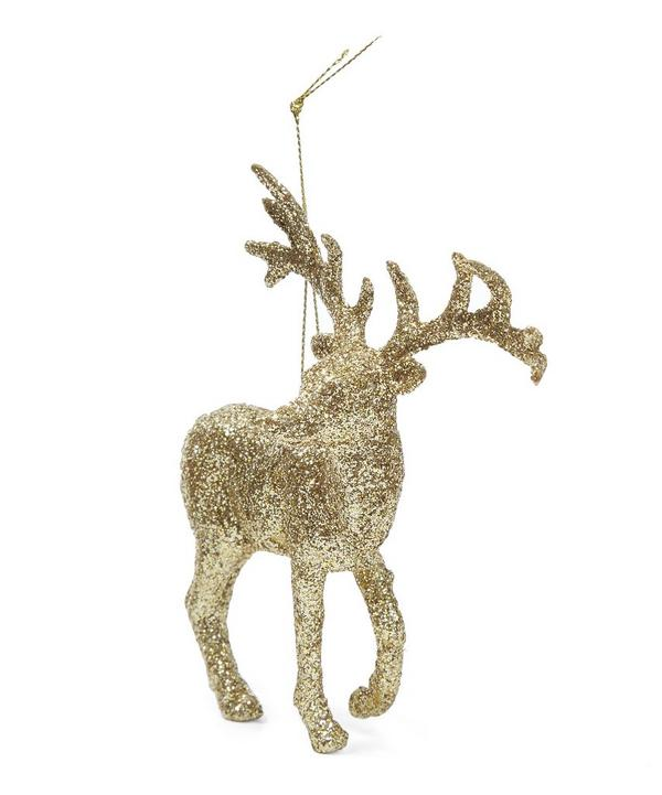 Glitter Stag Decoration