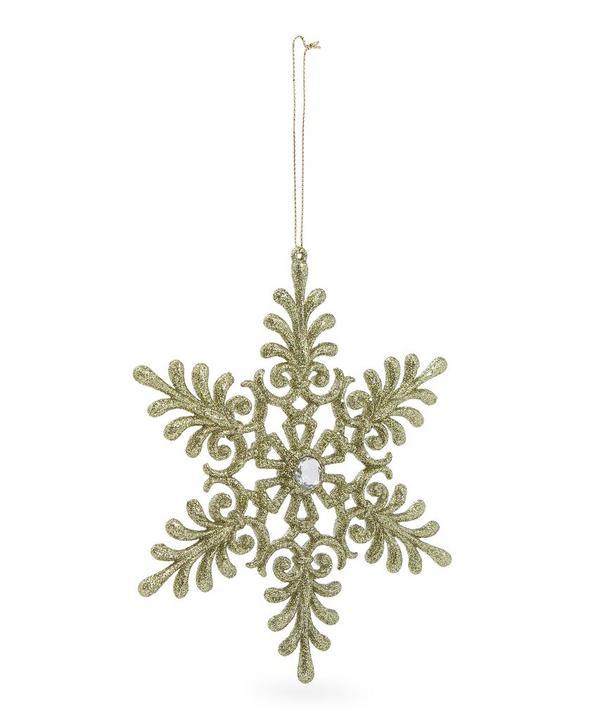 Glitter Snowflake Tree Decoration
