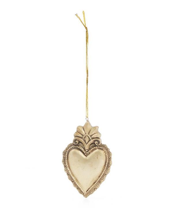 Vintage Crowncrest Heart Tree Decoration