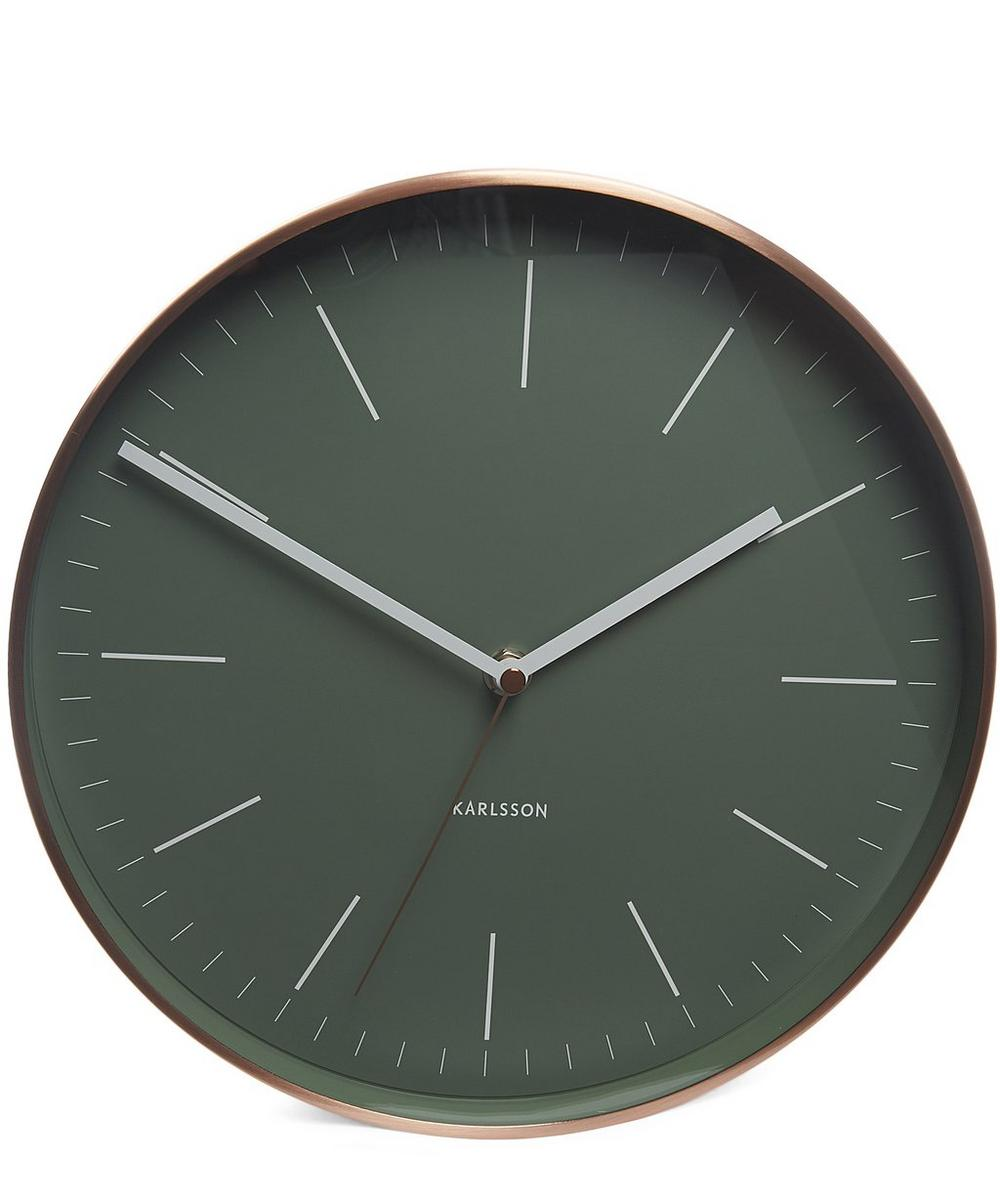 Minimal Copper Case Wall Clock