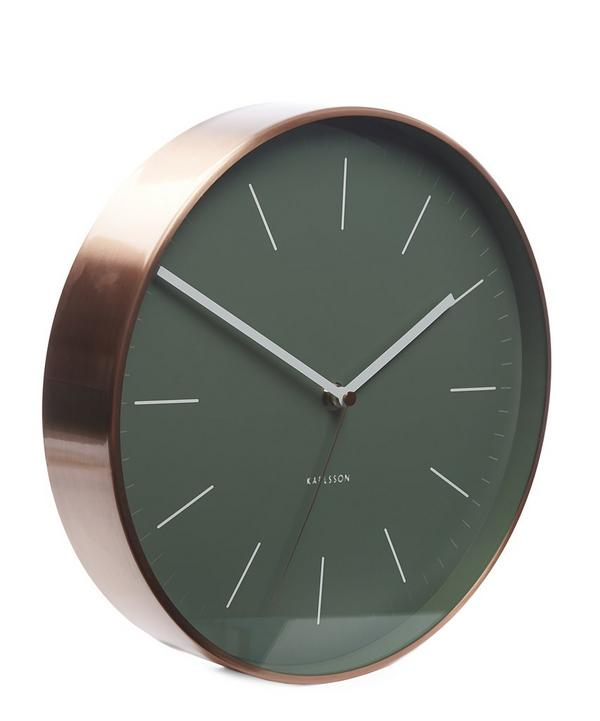Minimal Copper Case Wall Clock