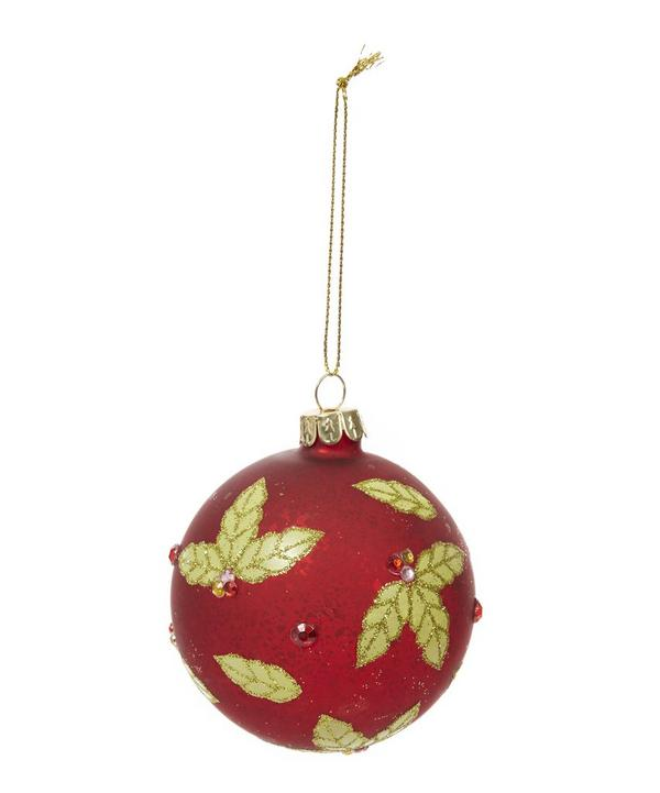 Holly and Berry Bauble