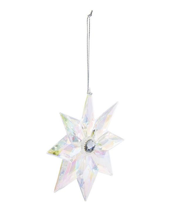 Shimmering Acrylic Flower Jewel Decoration