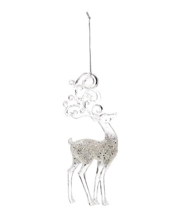 Glitter Reindeer Decoration
