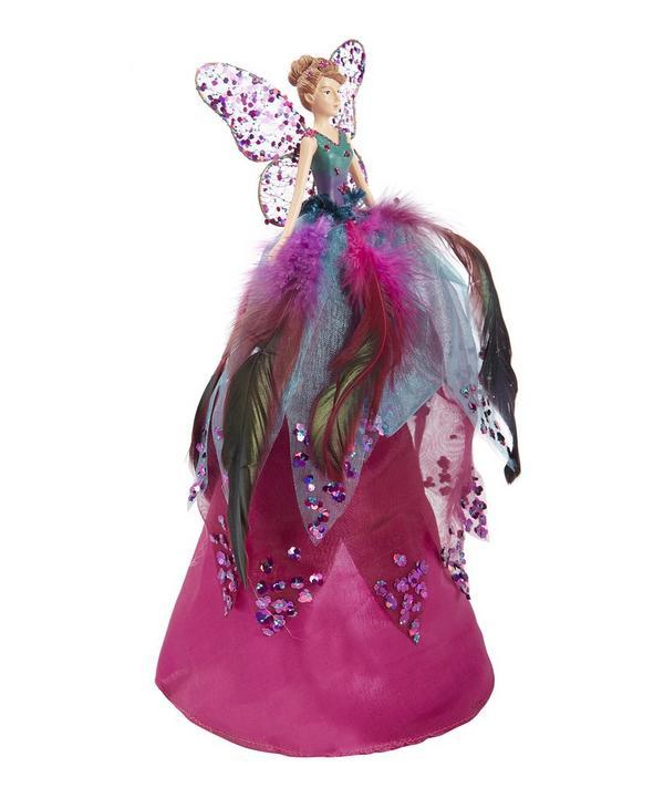 Glitter Feather Tree Top Fairy