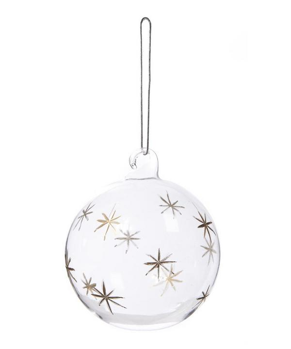 Etched Stars Bauble