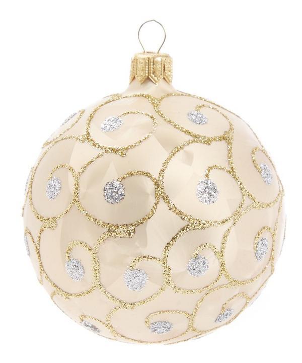 Glitter Embellished Tree Decoration