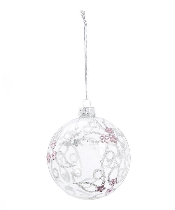 Glitter Patterned Bauble