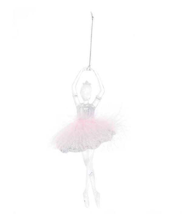 Feather Glitter Ballerina Decoration