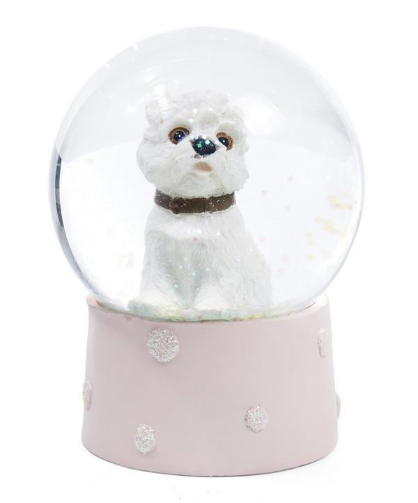West Highland Terrier Dog Glitter Snow Globe