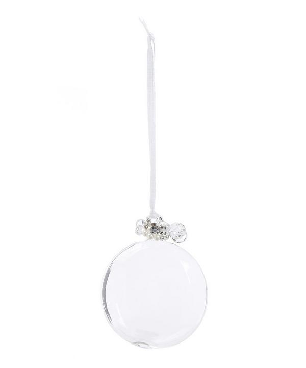 Jewel Accessorised Glass Bauble