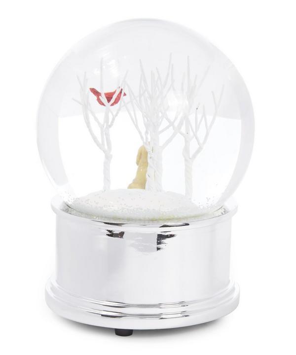 Dog and Bird Musical Snow Globe