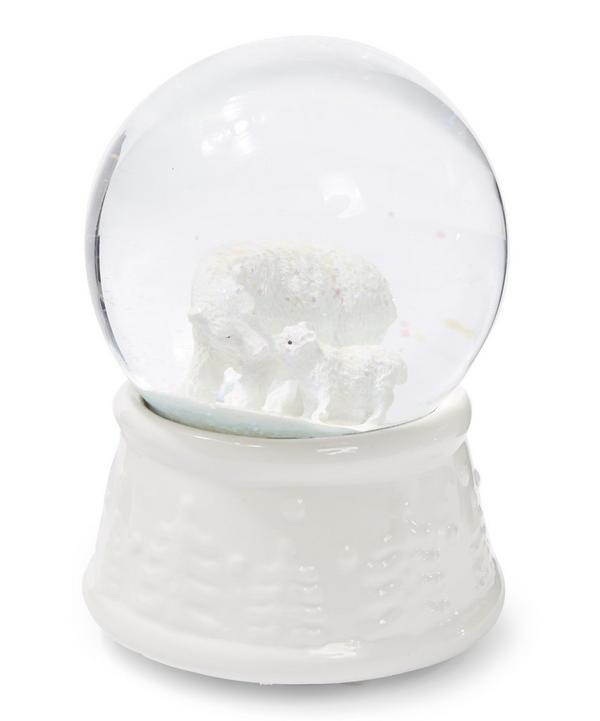 Ceramic Polar Bear Snow Globe