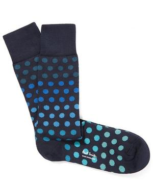 Degrade Polka Dot Socks