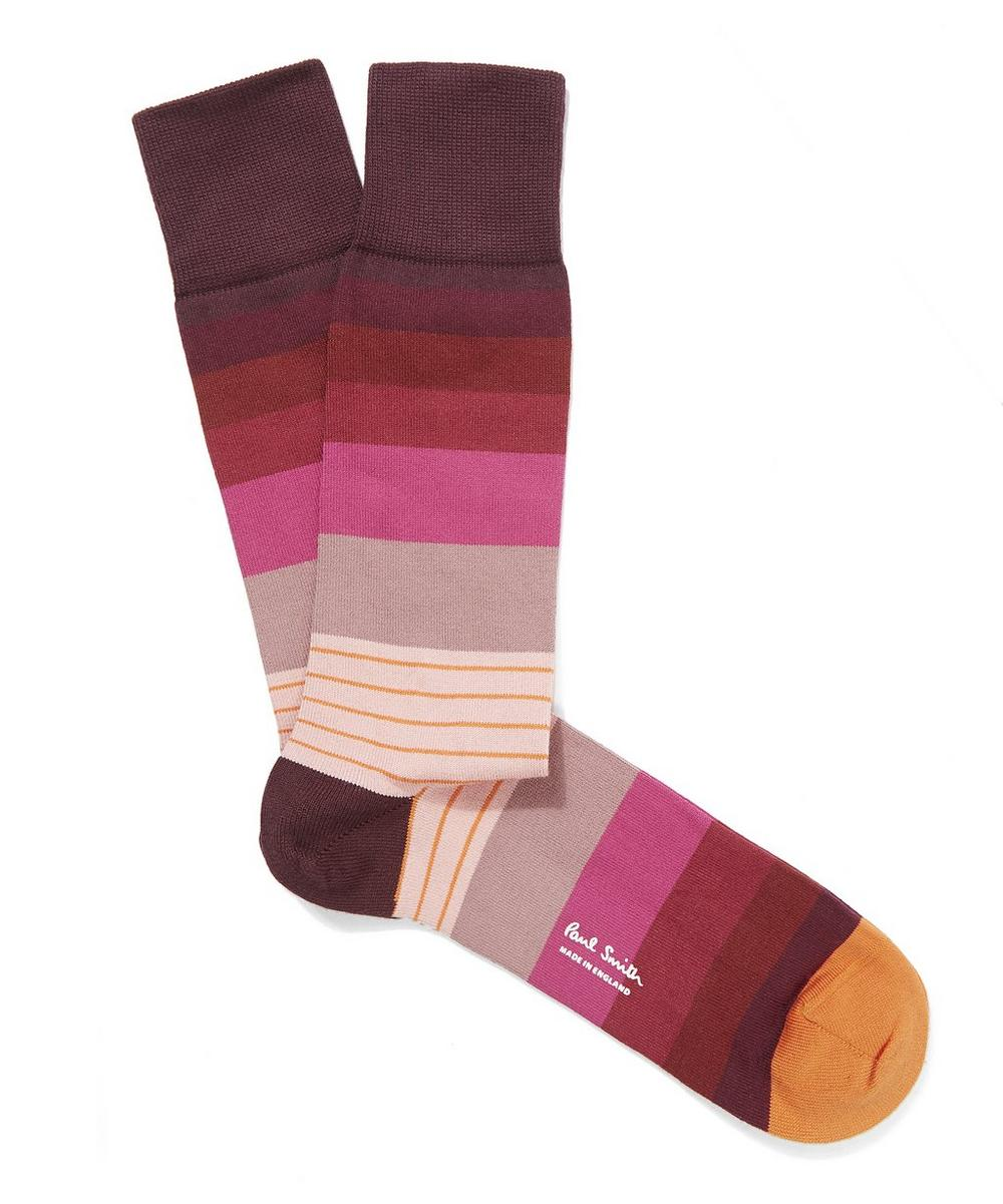 Engineered Stripe Socks