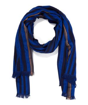 Multistriped Printed Scarf