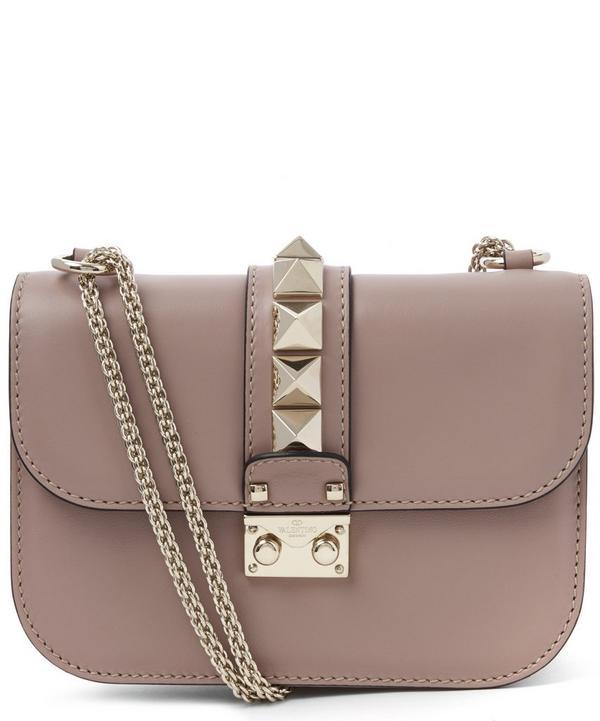 Leather Lock Medium Shoulder Bag